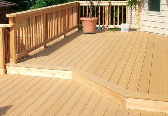 Wood deck custom build