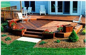Wood Deck on back lawn