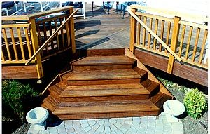 Deck with steps added